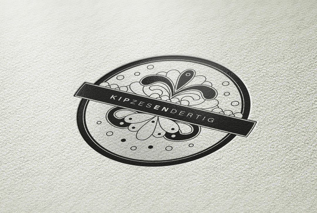 KIPZESENDERTIG logo en zakelijke identiteit
